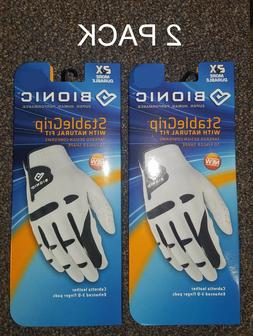 2 Pack Bionic Golf Glove StableGrip Men & Women Right & Left