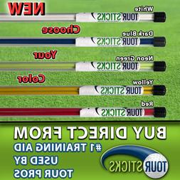 2pcs golf alignment sticks swing tour trainer