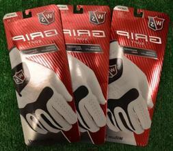 3 Wilson Staff Grip Soft Men's Gloves - Left/Right Hand Opti