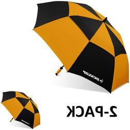 "Dunlop 60"" 2-PK Double Canopy Folding 2-Person Golf Umbrella"