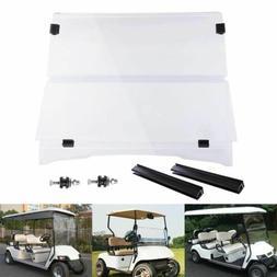 For 1994-2014 EZGO TXT & Medalist Folding Golf Cart Clear Wi