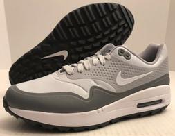NIKE Air Max 1 G Golf Shoes AQ0863-002 Pure Platinum/Grey  *