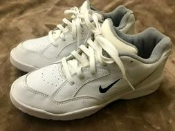 Nike Air Mens White Size 9.5 Laces Golf Athletic Shoes Spike