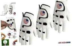 Amy Sport Golf Gloves Men Left Hand Right with Ball Marker U