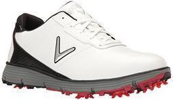 Callaway Men's Balboa TRX Golf Shoe, White/Black, 12 D US