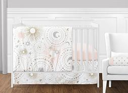 Sweet Jojo Designs 11-Piece Blush Pink, Gold, Grey and White