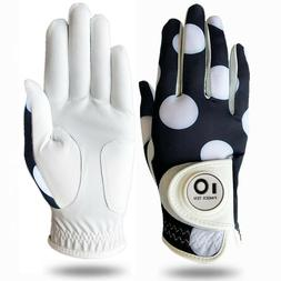 Cabretta Leather Women's Golf Glove With Ball Marker Right &