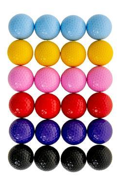 Colored Golf Balls - Multicolored Set of 24 for Kids Mini Go