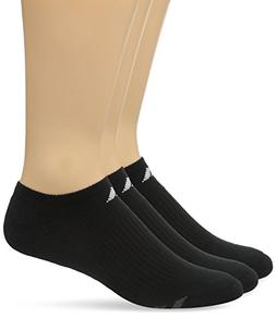 adidas Men's Cushioned No Show Socks , Black/White/Light Oni