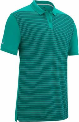 Nike Golf Dry Pique Stripe XL Golf Polo Neptune Green Mens A