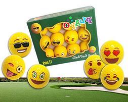 Playo Emoji Golf Balls - Kids Novelty Gifts for Dad's Day Ou