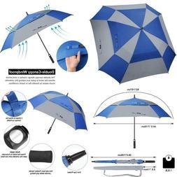 G4Free Extra Large Golf Umbrella 62/68 Inch Vented Square Um
