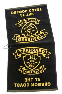 Gearhart Golf Links Gearhart Oregon Large Golf Towel Black a