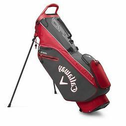 Callaway Golf 2020 Hyperlite Zero Stand Bag-Charcoal-Wht-Red