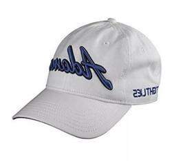 Adams Golf Adjustable Cap White Blue Strap Back Baseball Cap
