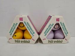 GOLDEN GIRL GOLF BALLS - NIB Vtg 80s two 3 Packs Lavender  a