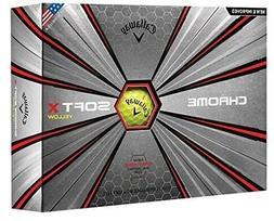 Callaway Golf Chrome Soft X Golf Balls, One Doze