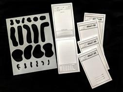 Golf Do-It-Yourself Yardage Books and Stencil