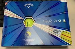 Callaway Golf ERC Soft Triple Track Golf Balls - Yellow - 12