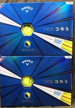 Callaway Golf ERC Soft Triple Track Golf Balls - Yellow-12pk