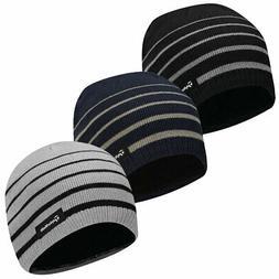 TaylorMade Golf Fleece Stripe Beanie Winter Thermal Hat
