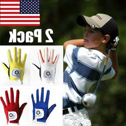 Golf Gloves Kids Left Right Hand 2 Pack All Weather Grip Boy