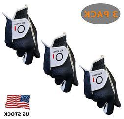 Golf Gloves Men Value 3 Pack Rain Hot Summer Grip Left Hand