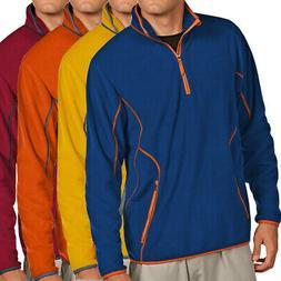 Antigua Golf Men's Ice 1/4-Zip Fleece Golf Pullover NEW