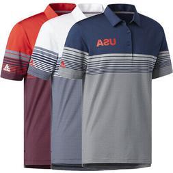 Adidas Golf Men's USA Ultimate 365 Bold Stripe Polo Shirt,