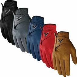 Callaway Golf Mens Opti-Colour Premium Leather Golf Gloves L