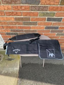 Callaway Golf Pencil Bag Carry On Lightweight Black Canvas R