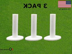 """Golf Rubber Tee 3 Pack For Driving Range Practice 1.5"""" 2.25'"""