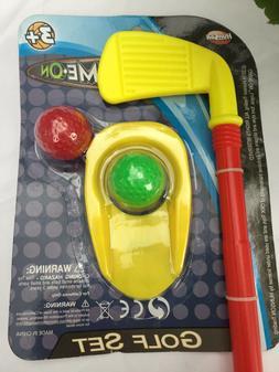 "Golf Set Kids Toy PLASTIC 17.5"" Golf Stick, Cup, 2 Golf Ball"