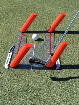 Golf Slice and Hook Corrector with 4 Angled Rods - Swing Tra