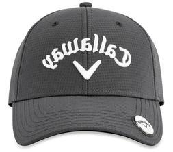 golf stitch magnet cap hat charcoal gray