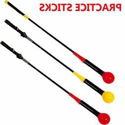 Golf Swing Trainer Aid Stick Indoor Practice Power Strength
