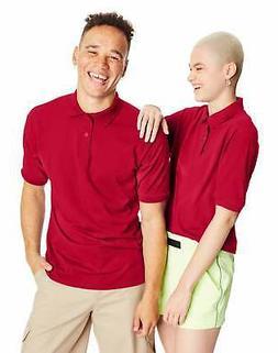 Hanes Golf Tee Men's Polo Shirt Cotton-Blend EcoSmart Jersey