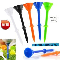 Golf Tees Plastic 3 1/4 inch Big Cup Upgrade Unbreakable Bul