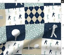 Golf Themed Patchwork Wholecloth Little Arrow Fabric Printed