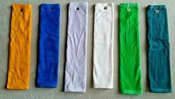 Golf Towel Cotton Velour Tri-Fold 5x26 or open 16x26 w/ hook