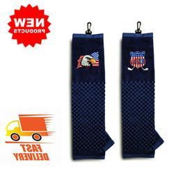 Golf Towel Tri-Fold For Ping Callaway Titleist Taylormade Mi
