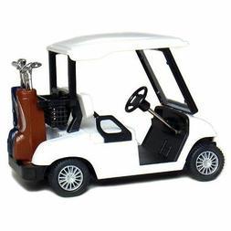 """New 4.5"""" Kinsfun Golf Cart w/ Clubs Diecast Metal Model Cadd"""