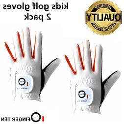 Junior Golf Glove 2 Pack Left Right Hand Kids Children Youth