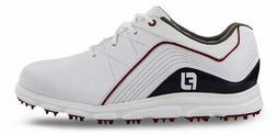 FootJoy Junior Pro SL Golf Shoes 45028 White/Navy/Red Kids N