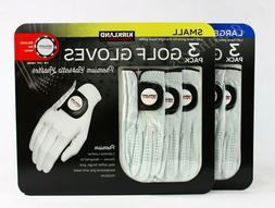 Kirkland Men's Golf Gloves Premium Cabretta Leather 3 Pack L