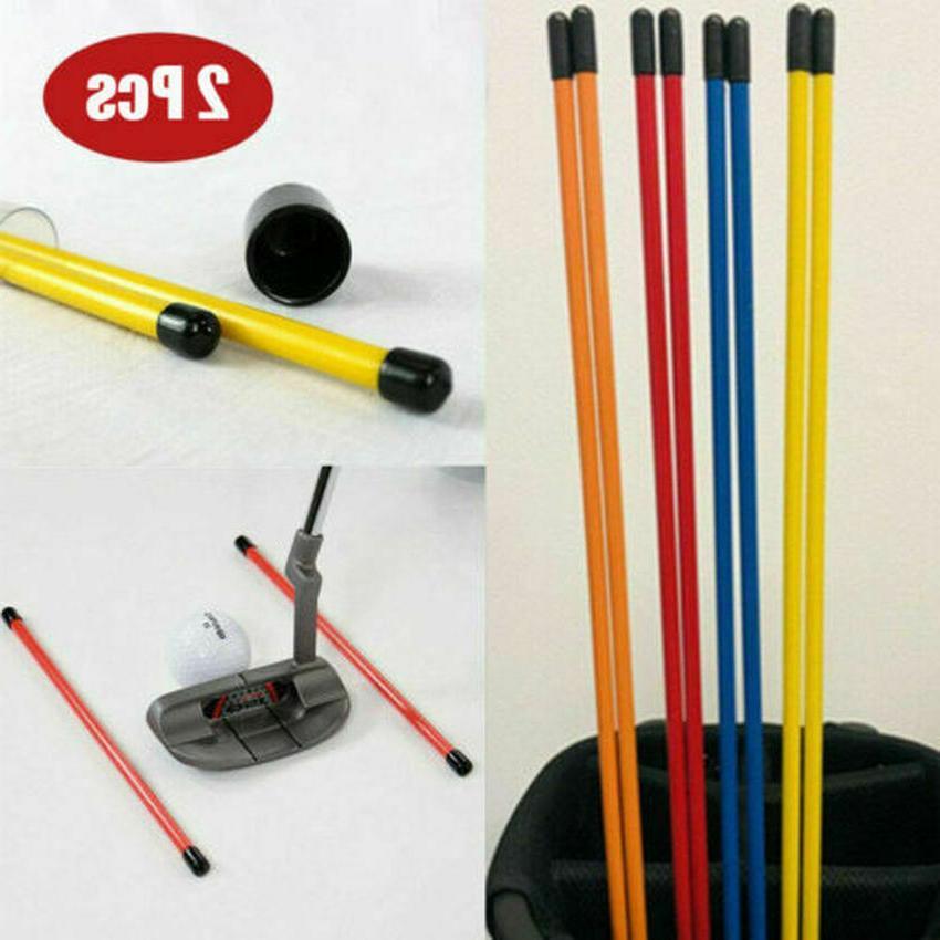 Golf Alignment Sticks Aid Practice Rods Trainer 2 Pcs Fits i