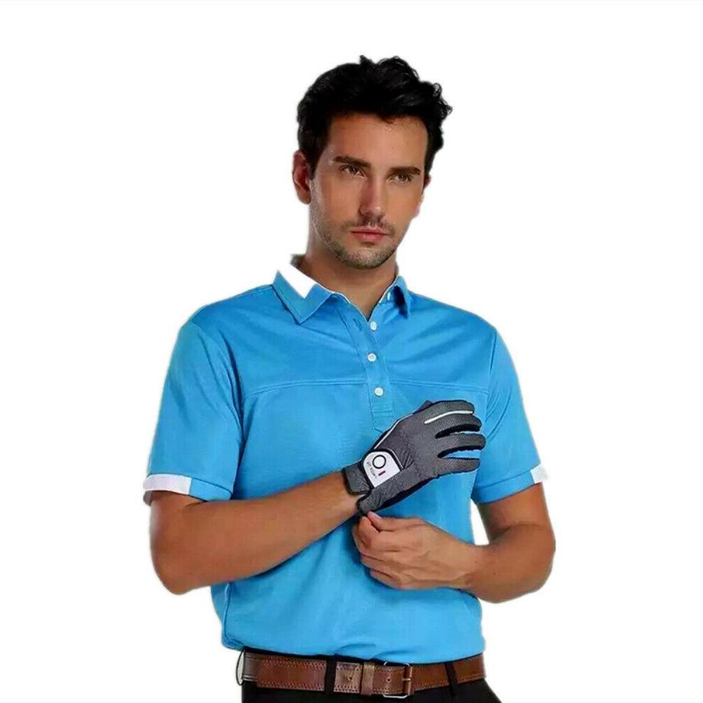 Men's Golf Gloves Left Hand Lh Rh Wet Grip Black XL L