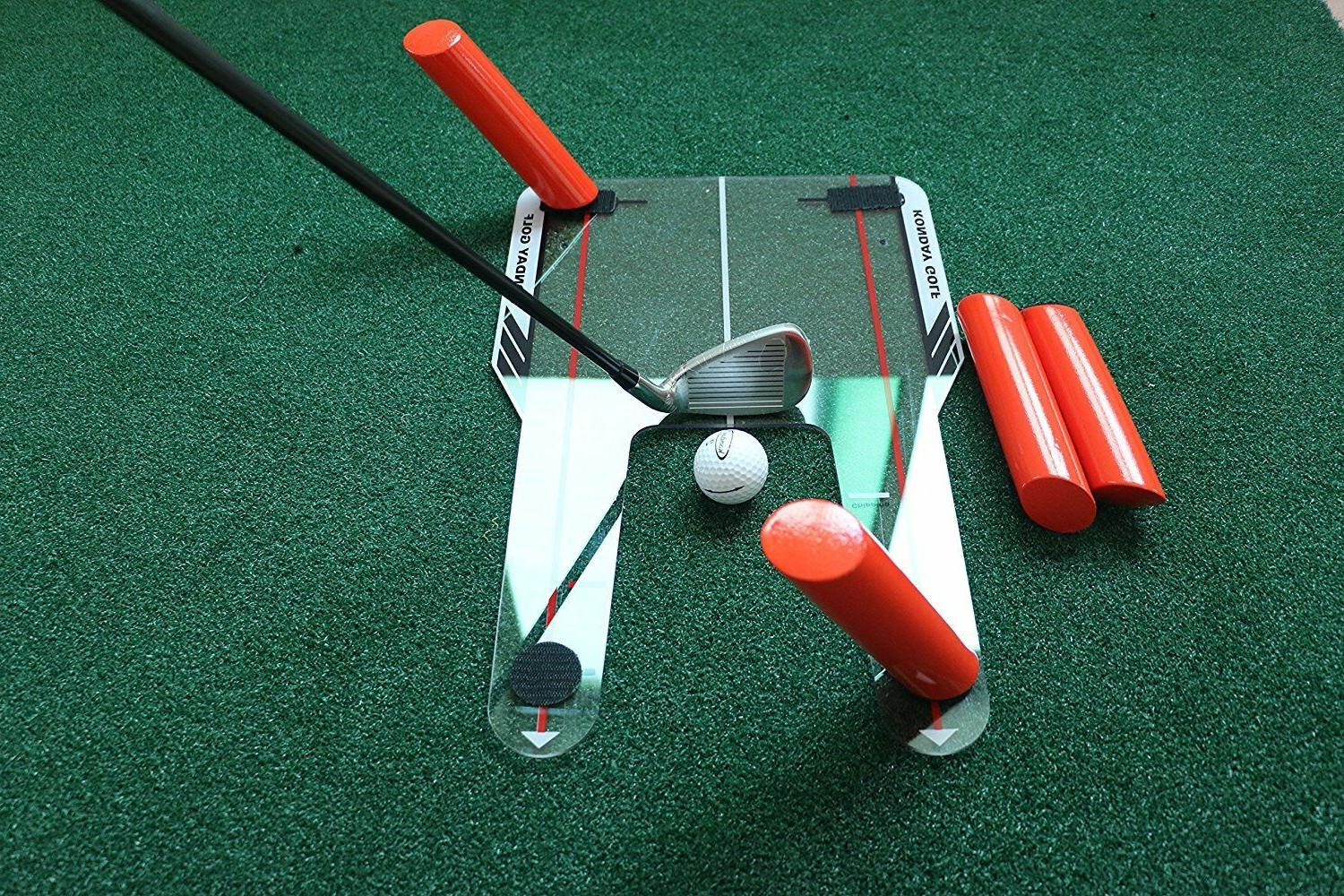 Golf Slice and Hook Corrector with Angled Rods - Swing Trainer