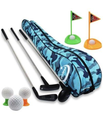 kid s toy golf clubs set deluxe