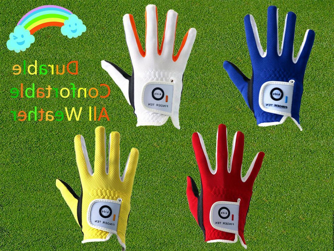 Junior Golf Glove 2 Pack Left Right Hand Kids Boys Girls You